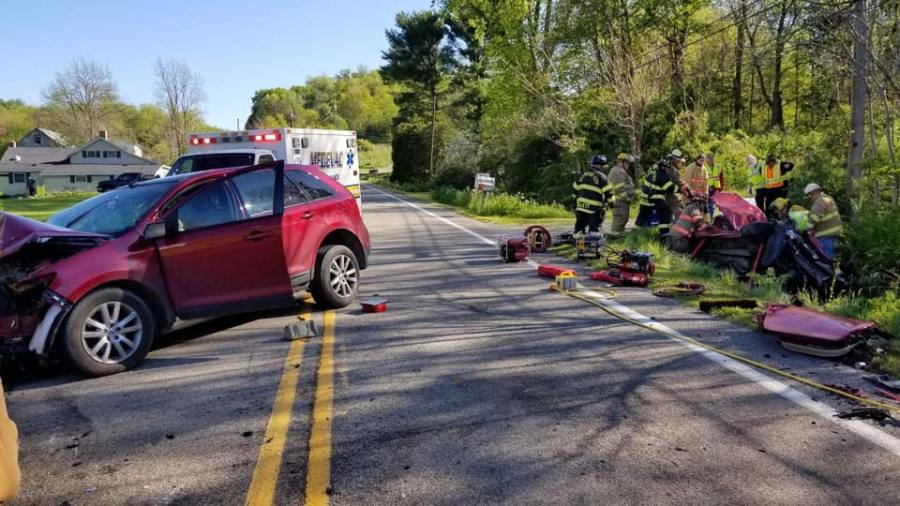 Head-on crash in New Beaver Boro, Lawrence County