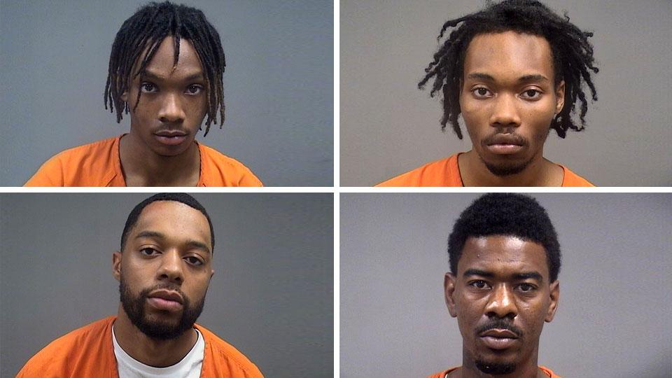 Kyshuan Hendrix, Michael Martinez, Xavier Calhoun and Javon Sutton-Elliott, all facing gun charges in Youngstown.