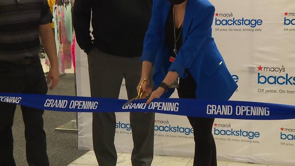 On Saturday, Macy's held the grand opening of their Backstage store.