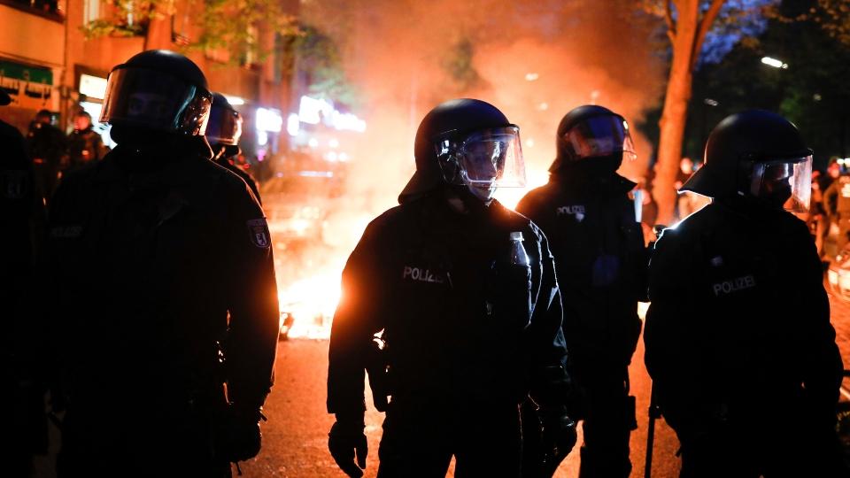 Over 90 German police injured