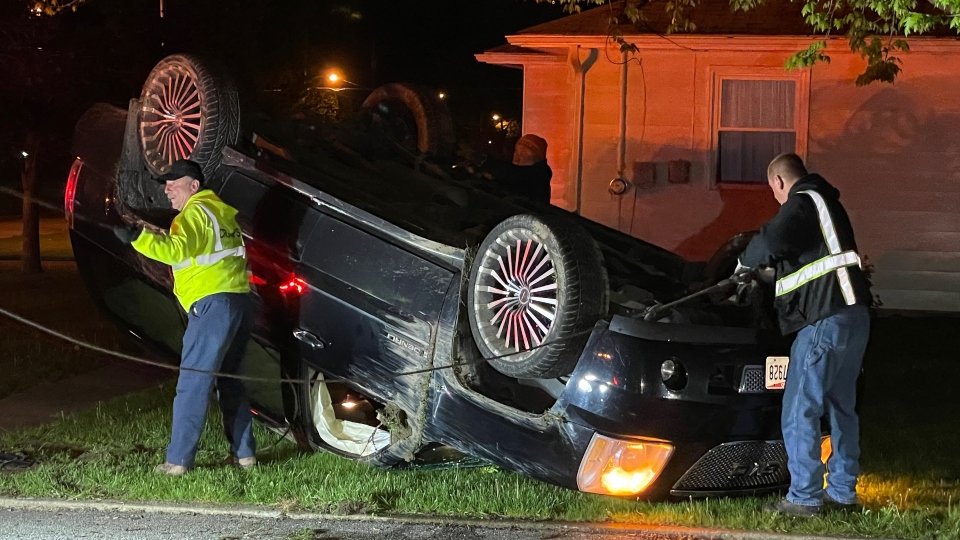 Rollover crash on Afton Avenue in Boardman