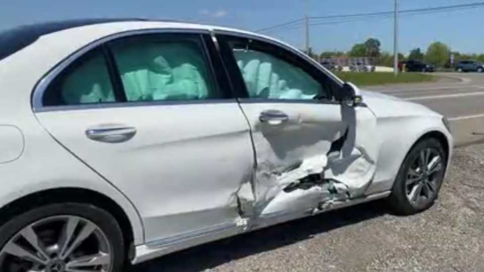 Two people were taken to the hospital Tuesday after a crash in Springfield Township.
