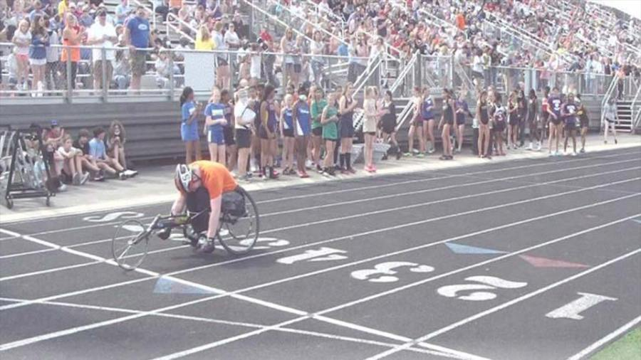 Howland 8th grader Ryan Zolnier competed in the 7th & 8th OHSAA State Track & Field State Championships at Hilliard Darby High School