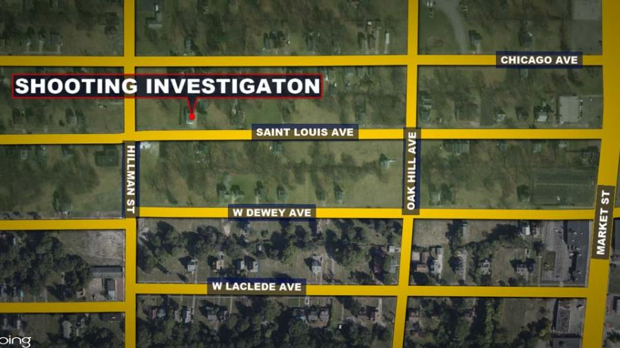 Saint Louise Avenue, Youngstown Fatal Shooting Map
