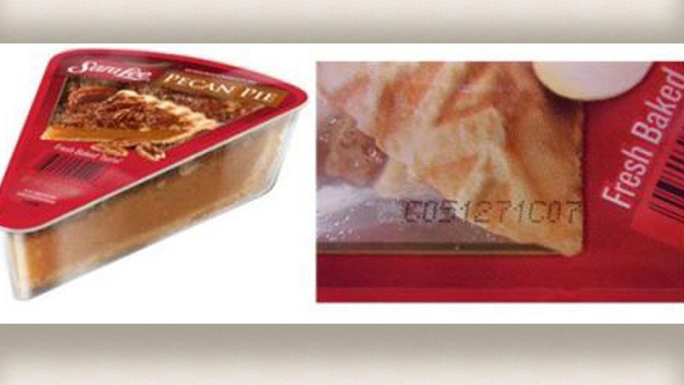 Sara Lee frozen pecan pie recall