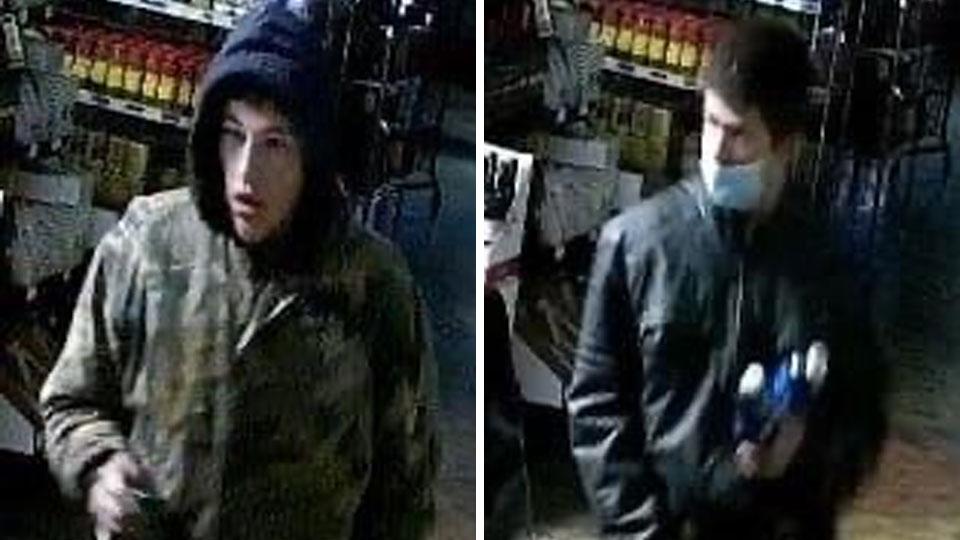 Suspects in a Liberty break-in