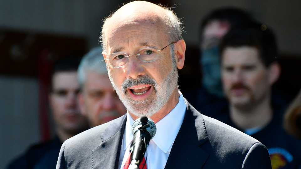 FILE - In this May 12, 2021 file photo, Gov. Tom Wolf speaks at an event in Mechanicsburg, Pa. Beyond the local races on ballots, Pennsylvania's primary election will determine the future of a governor's authority during disaster declarations. Voters statewide Tuesday, May 18 will decide four separate ballot questions, including two on whether to give state lawmakers much more power over disaster declarations.