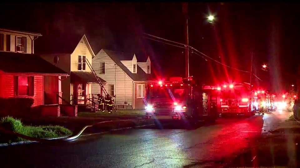 An abandoned house caught fire on Idora avenue in Youngstown.