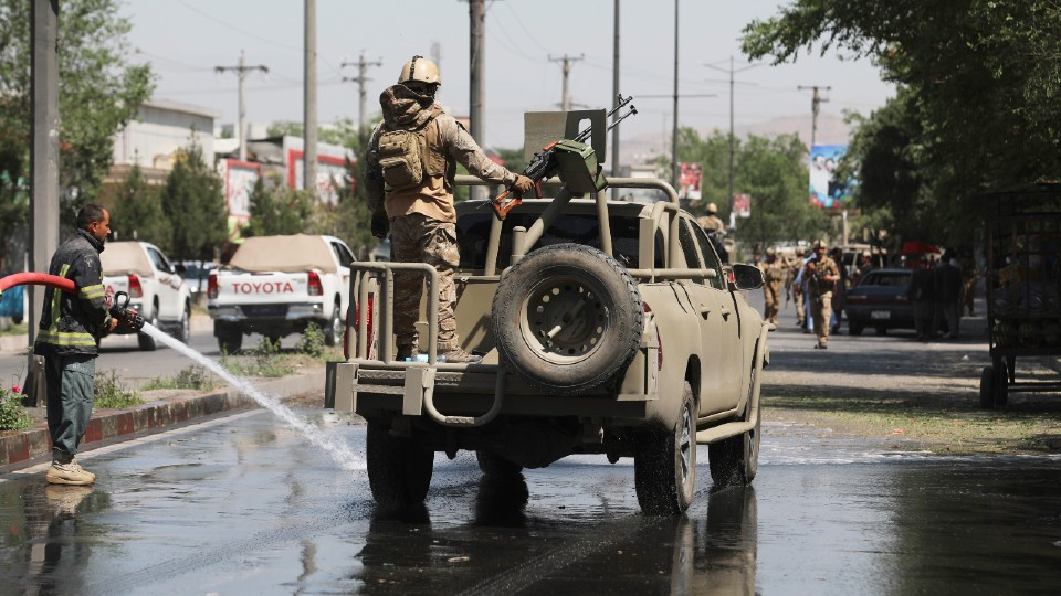 Afghan security personnel in Kabul