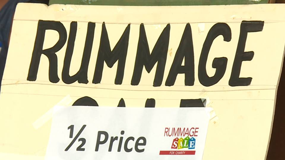 Sunday was the last day of the Immaculate Heart of Mary Church's rummage sale.