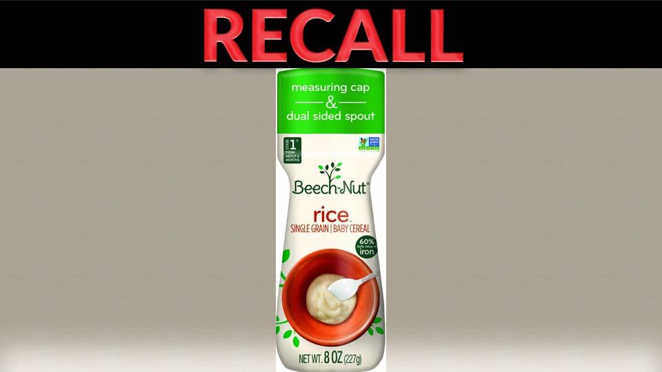 Beech-Nut Single Grain Rice, Recall