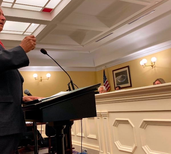 Ohio Rep. Larry Householder, a Perry County Republican, argues against a resolution calling for his expulsion from the Ohio House because he is under federal indictment in an alleged $60 million bribery probe, on Tuesday, June 15, 2021, in Columbus, Ohio.
