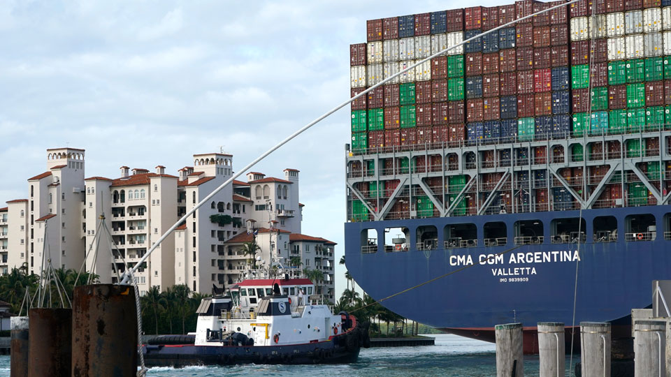 CMA CGM Argentina arrives at PortMiami in Miami