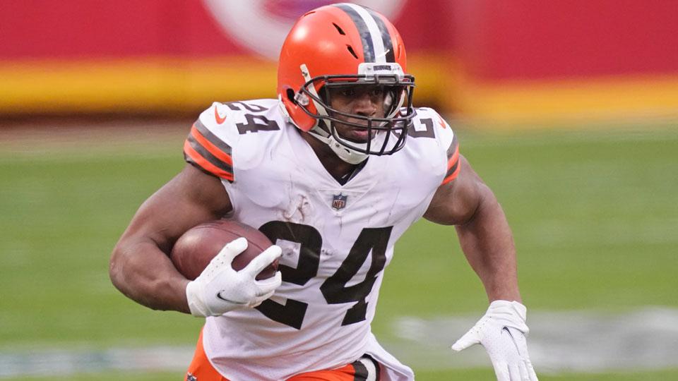 Cleveland Browns running back Nick Chubb