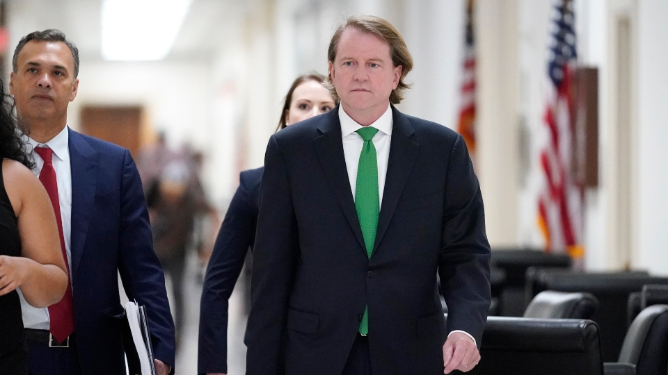 Former White House counsel Don McGahn arrives to meet with the House Judiciary Committee on Capitol Hill in Washington, Friday, June 4, 2021.