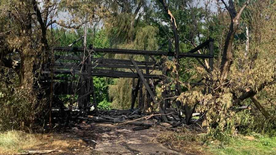 A man is facing arson, breaking and entering and criminal trespass charges after a fire at a former Cortland golf course.
