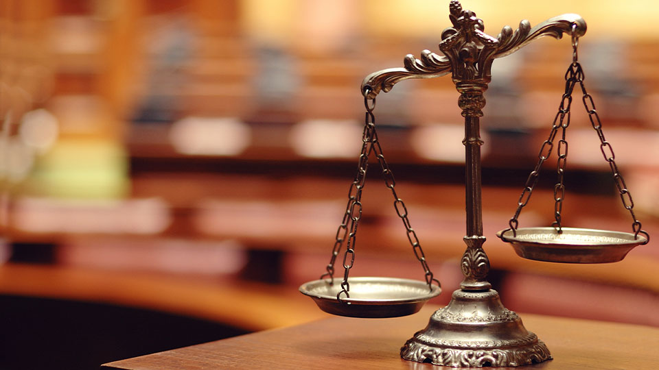 Court Room Scales of Justice