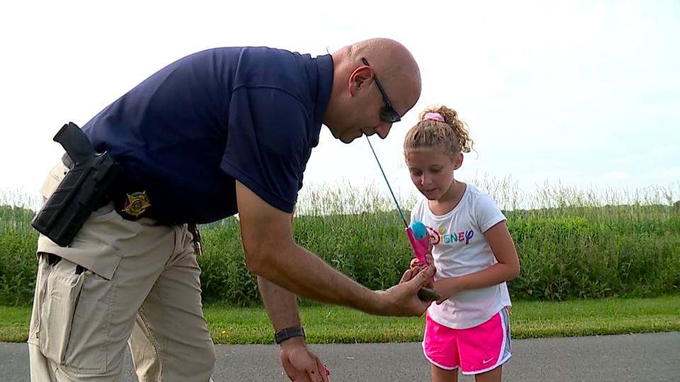 The Mill Creek MetroParks held its Hooked on Fishing event Saturday, where police taught kids how to fish.