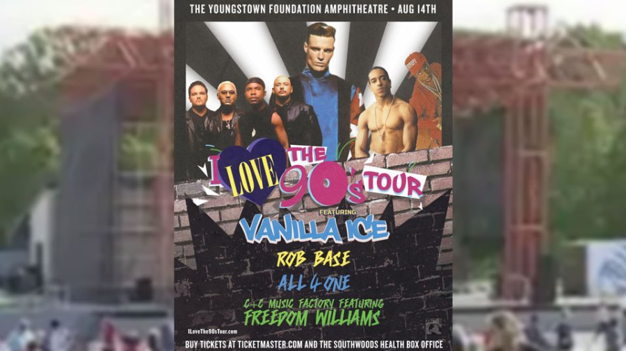 Youngstown Foundation Amphitheatre, I Love the 90's Tour Flyer