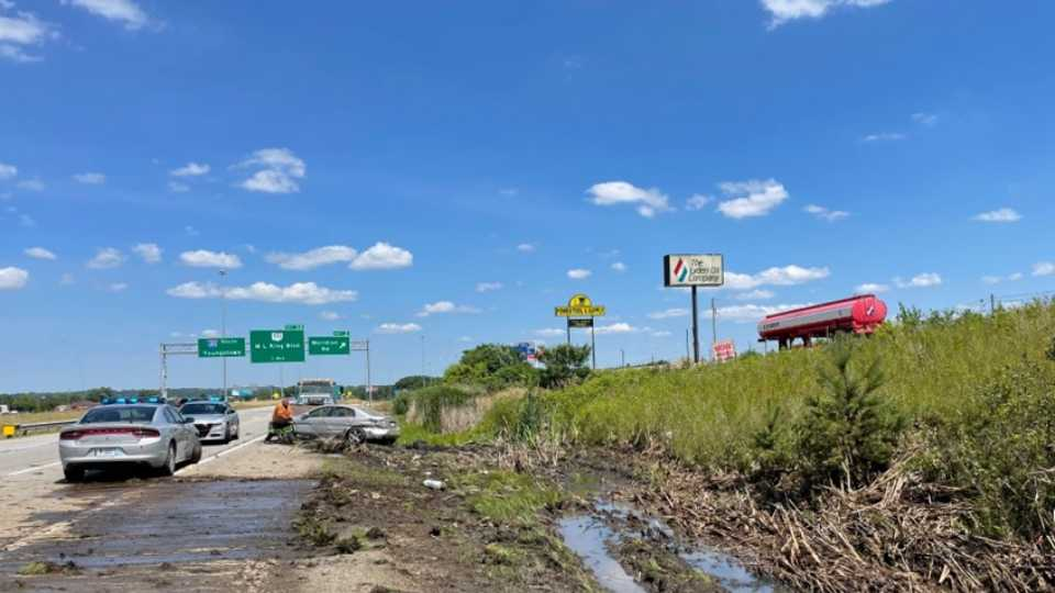 The suspect in a chase Thursday afternoon crashed a vehicle on Interstate 680 near the Meridian Road exit, where investigators took him into custody.