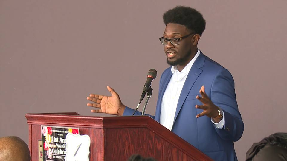 Kelan Bilal and nine others were honored in a brunch as part of a weeklong Juneteenth celebration in Youngstown.