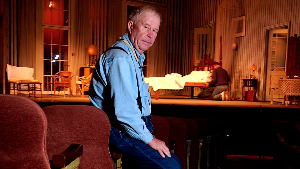 """In this Oct. 17, 2003, file photo, actor Ned Beatty poses at New York's Music Box Theatre where he plays the role of Big Daddy in a new production of Tennessee Williams' """"Cat on a Hot Tin Roof."""" Beatty, the indelible character actor whose first film role, as a genial vacationer brutally raped by a backwoodsman in 1972′s """"Deliverance,"""" launched him on a long, prolific and accomplished career, died Sunday, June 13, 2021. He was 83."""