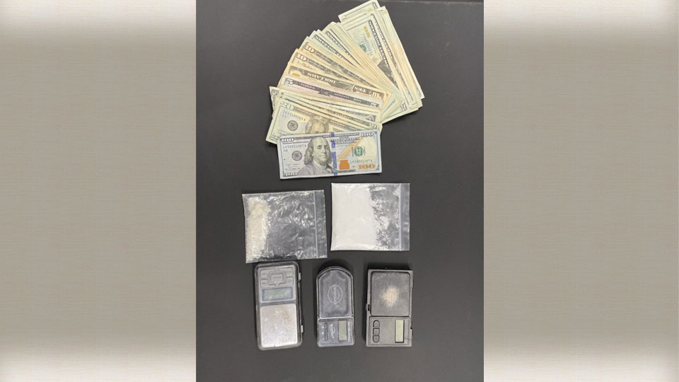 Evidence seized during a drug bust in New Castle.