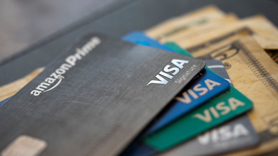 This Aug. 11, 2019 file photo shows credit cards in New Orleans.
