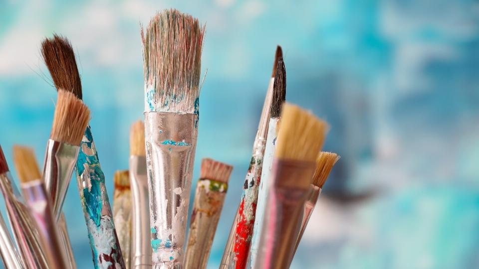 Paint brushes, art