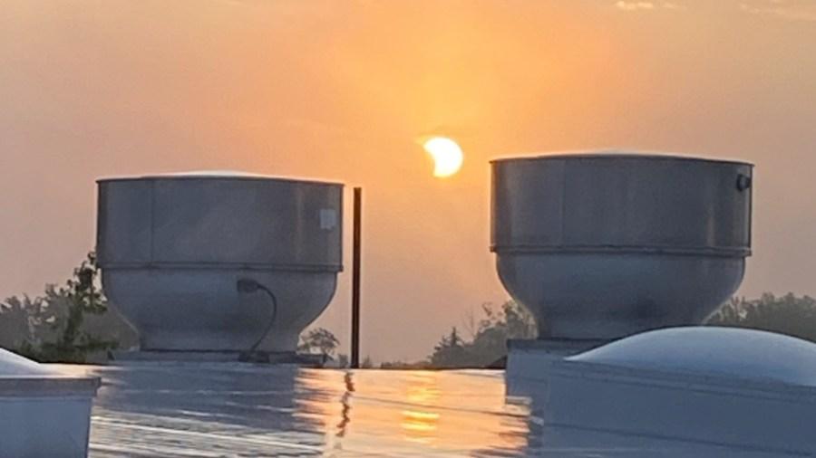 Partial solar eclipse, Boardman