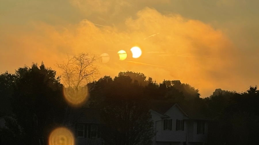 Partial solar eclipse, Youngstown