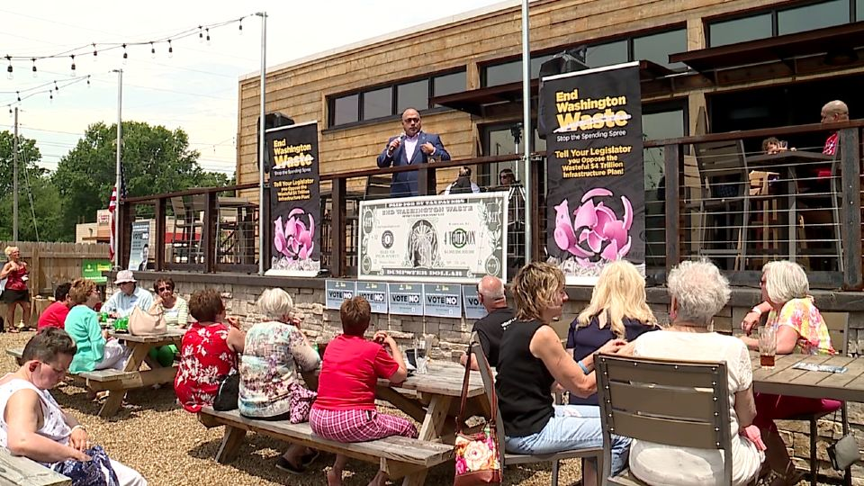 """The group """"Americans for Prosperity"""" hosted a lunch at a local BBQ restaurant Friday."""