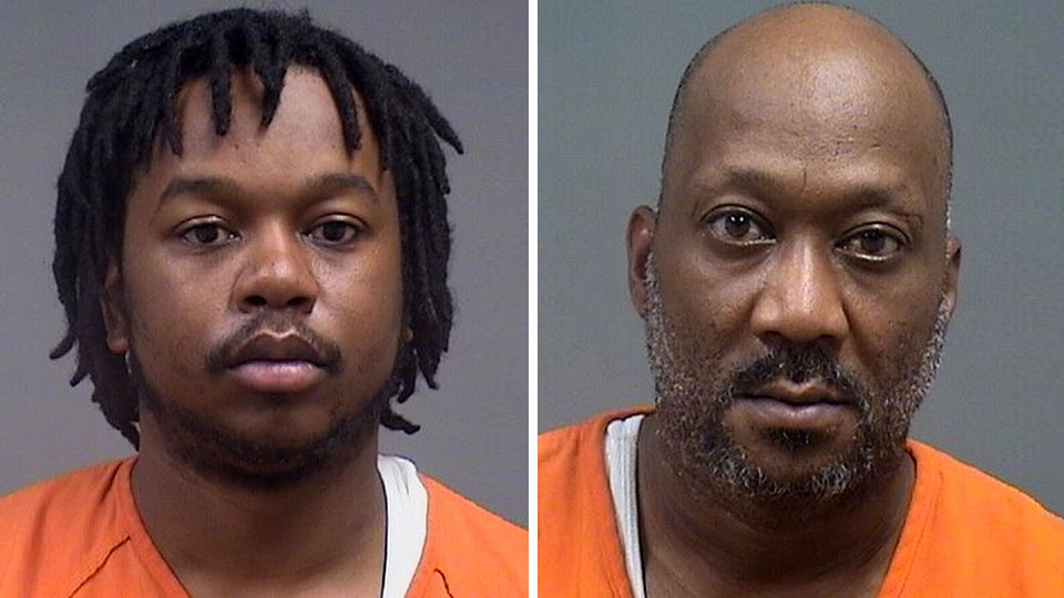 Robert Miner and Donald Deshazo, charged with possession of drugs in Youngstown.