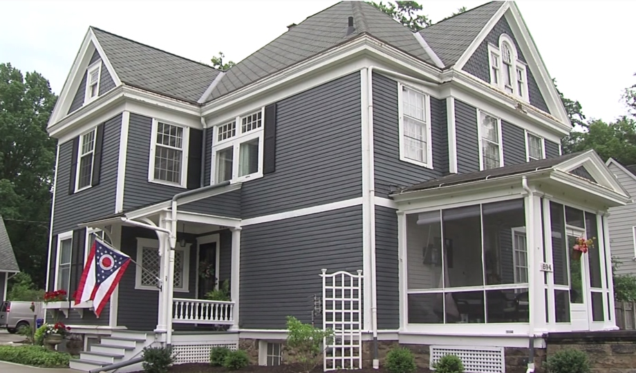 Tara and Todd Peters' home on South Lincoln in Salem, Ohio was built in 1985.