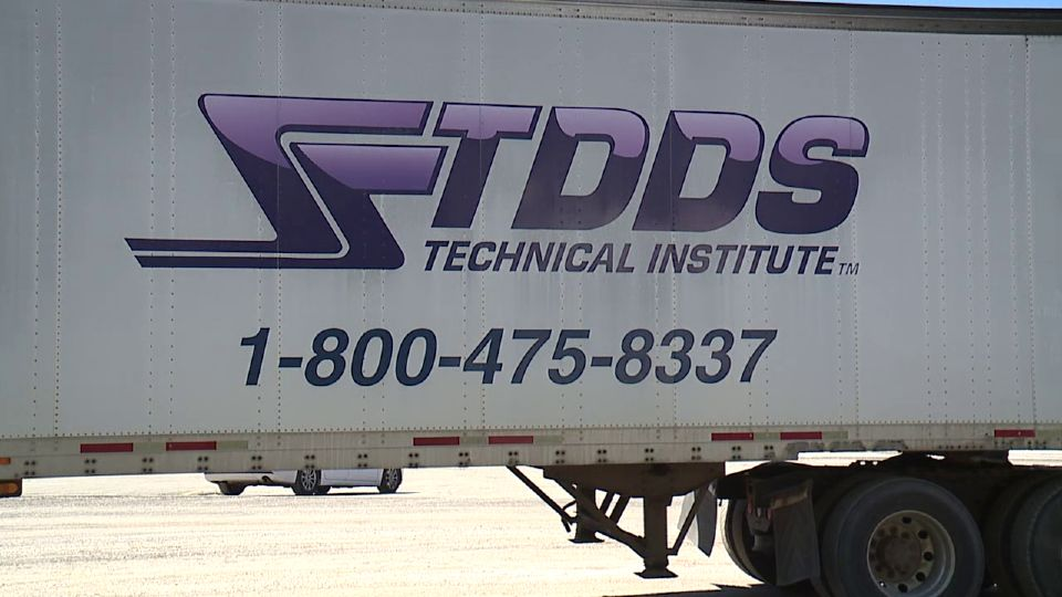 The trucks are parked at TDDS in Lake Milton. The school of transportation careers has suspended all training operations.