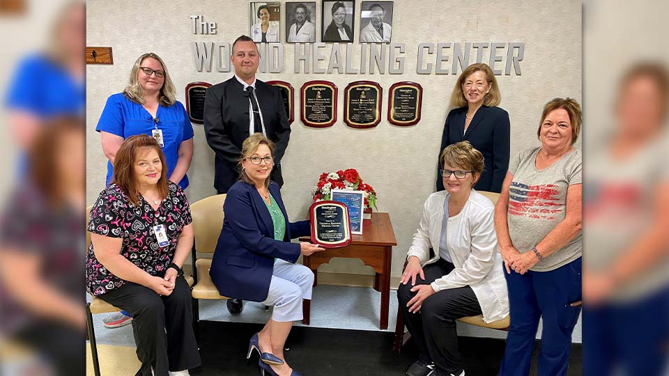 Trumbull Regional Medical Center is proud to announce that the Wound Healing Center has received the Center of Distinction award from Healogics