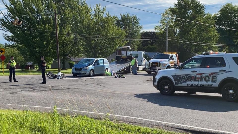 Warren car motorcycle crash
