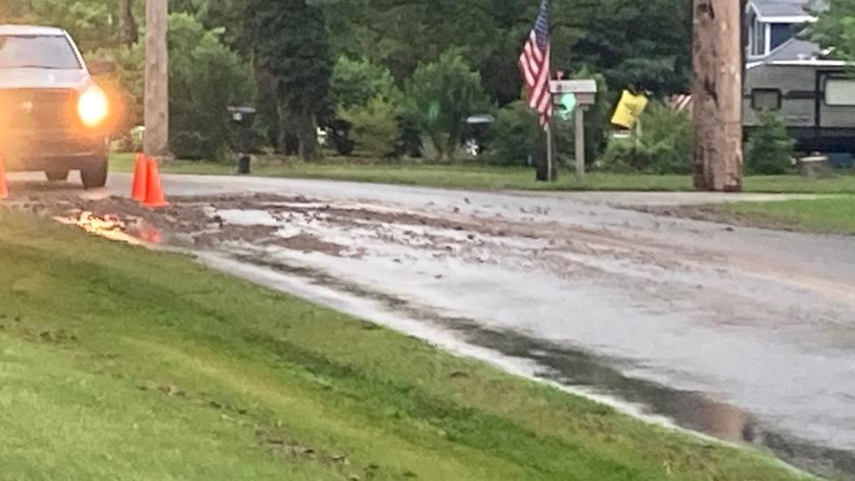 Water main break on Turner Road in Austintown