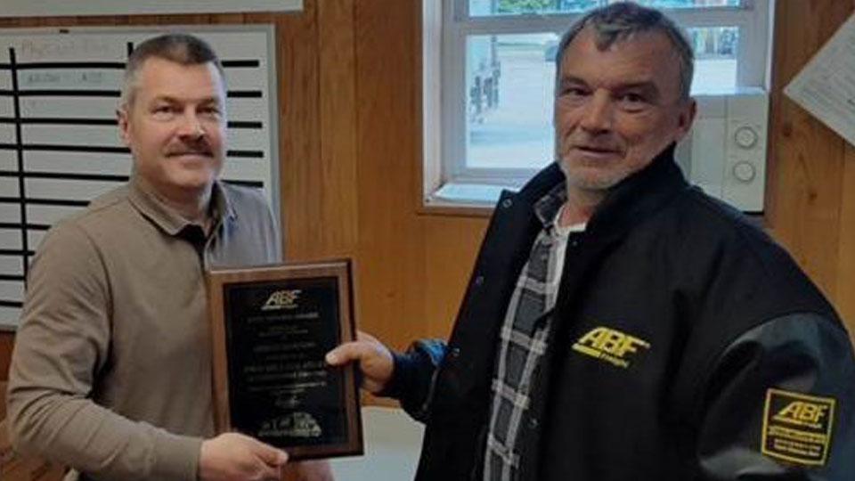 ABF Freight driver Gregg Dawson of North Lima, Ohio