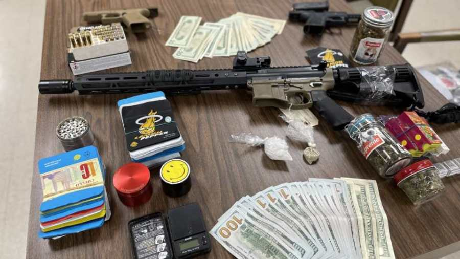 Investigators confiscated a substantial amount of drugs, several firearms and cash during three separate drug raids in Ashtabula County.
