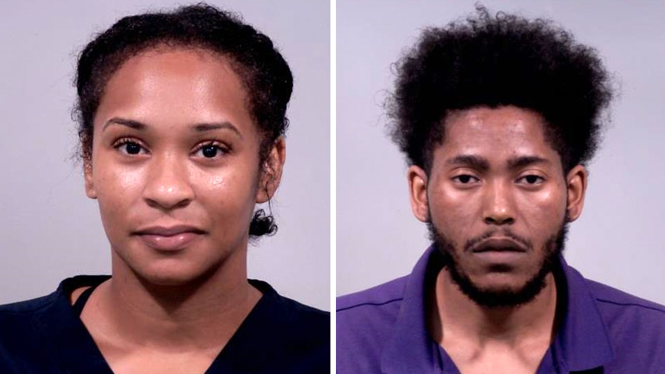 Brooke Mascarella was arrested on charges of aggravated menacing and obstructing official business and Malik Everson was arrested on charges of aggravated menacing.