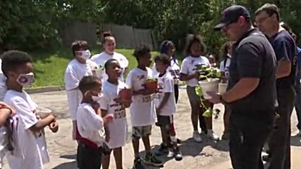 A neighborhood program in Campbell is teaching some youngsters valuable lessons about foot and nutrition and saying 'thank you.'