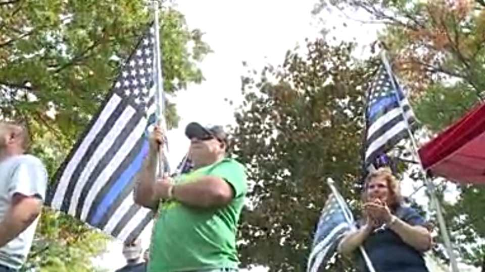 The group known as Back the Blue, which sponsored an October rally last year in Canfield, is hosting its first annual fundraising golf outing Friday at Bedford Trails in Lowellville.