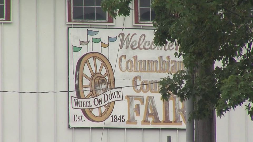 Setup for the Columbiana County Fair is underway.