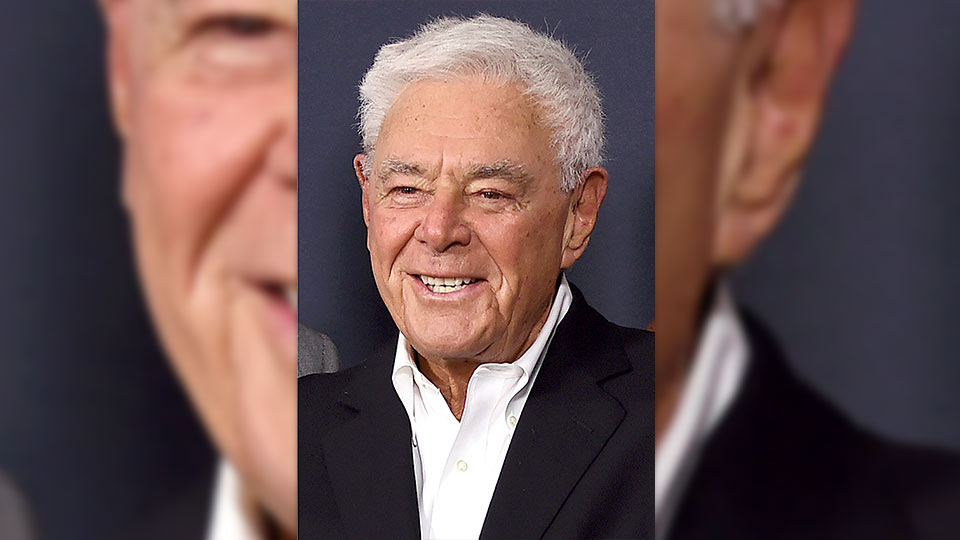 """Richard Donner arrives at a tribute event in his honor on June 7, 2017, in Beverly Hills, Calif. The filmmaker, who helped create the modern superhero blockbuster with 1978's """"Superman"""" and mastered the buddy comedy with the """"Lethal Weapon"""" franchise, has died. He was 91. Lauren Shuler Donner, his wife and producing partner, told the Hollywood trade """"Deadline"""" that Donner died Monday, July 5, 2021."""