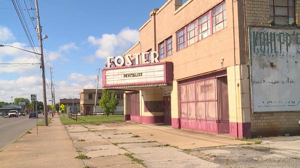 The Youngstown Neighborhood Development Corporation is holding an auction for items from Foster Art Theatre on Glenwood Avenue.