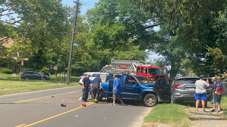 Glenwood Avenue just south of Parkcliffe Avenue closed around 2:50 p.m. Saturday after a two-car accident.