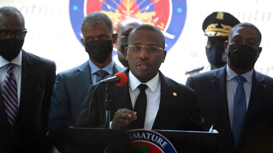 Haiti's interim Prime Minister Claude Joseph