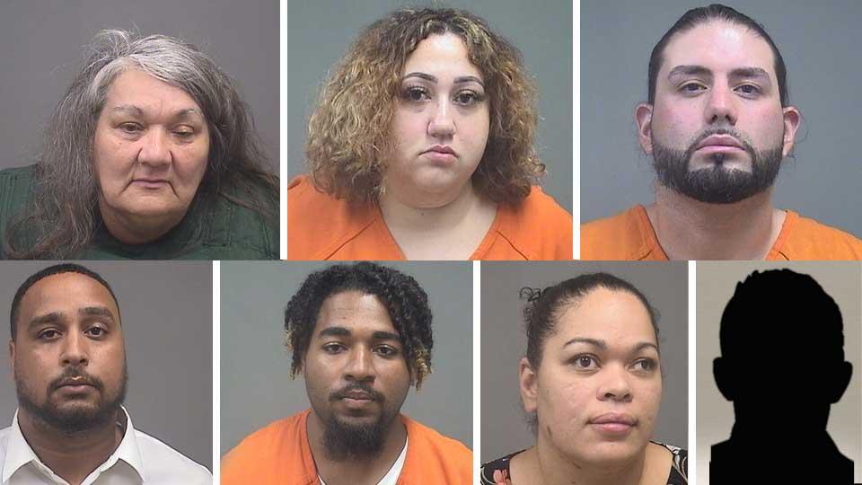 Insurance Fraud Suspects: Patricia Floyd, Jessica Gonzalez, Juan Rodriguez,Chris Gibboney,Theodore Wynn, Chris Gibboney, Kyrene Floyd