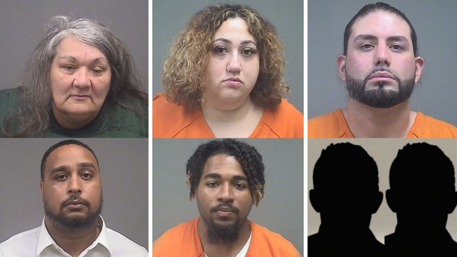 Insurance Fraud Suspects: Patricia Floyd, Jessica Gonzalez, Juan Rodriguez, , Chris Gibboney,Theodore Wynn